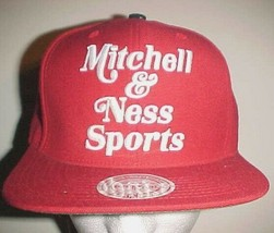 Mitchell & Ness Sports Adult Unisex Retro Red White Wool Cap One Size New - $26.72