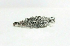 Small tiny silver metal filigree alligator hair claw clip clamp - $8.06+