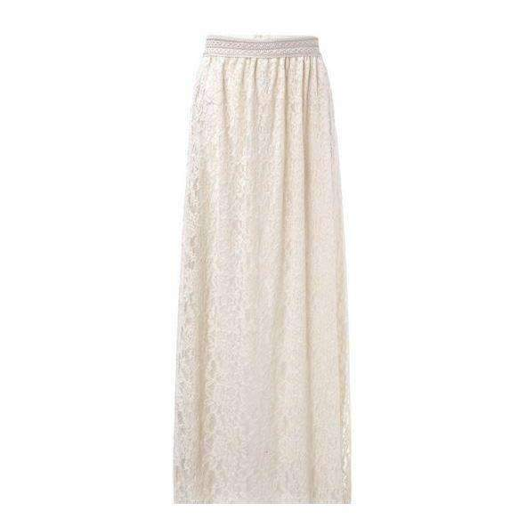 Multilayer Floral Lace High Waist Women Maxi Skirt