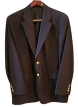 Ralph Lauren Chaps 2 GOLD Button Dark Navy Blue WOOL Jacket Sport Coat 44R - $49.88