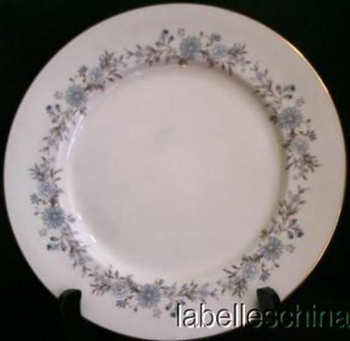 """Aynsley Mayfield 10 3/8"""" Blue Floral Dinner Plate Gold Trim English Bone China image 2"""