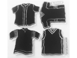 """Close to My Heart """"Sports Jerseys"""" Clear Cling Acrylic Stamp Set #B1164"""