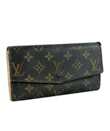 Auth LOUIS VUITTON Monogram Canvas Leather Bifold Envelope Long Wallet T... - $137.61