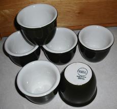 Lot of 6 Porcelain Hall 351 1/2 China Ramekins Custard Cups 4 oz - Green - $17.75