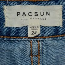 PacSun Light Blue Jean Denim Skirt w Raw Hem Size 24 image 3