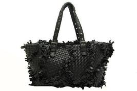 Auth Bottega Veneta Intrecciato Hand Tote Bag Black Leather 278480 F/S J... - $2,175.03