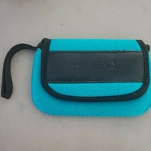 Nintendo 3ds carrying case pouch wrist strap small teal aqua blue - $13.99