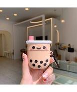 Cute Boba Milk Tea Cartoon Apple AirPod Case Earphone Charging Cover Kaw... - $6.99