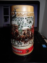 Anheuser-Busch Budweiser Beer Stein 1988 Collector's Series Mug Ceramarte - $0.99