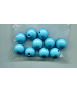 18mm big plastic beads blue ball beads bubble gum bead acrylic round bea... - $3.99