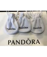 3 Pandora Pouches Packaging  Velvet Anti Tarnish Jewelry Storage Beads Charms - $8.91