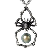 Glistercreep Spider Exoskeleton Arachnophilia Pearl Necklace Alchemy Got... - $23.50