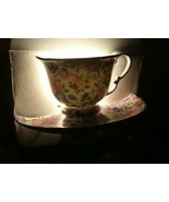 Nantucket Multi Color Floral Night Light New In Box Tea Cup and Sauser G... - $18.99