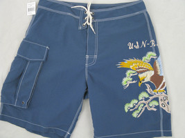NEW! Polo Ralph Lauren VINTAGE Swim Shorts! 36  *Rare Eagle Motif*  Bathing Suit - $79.99