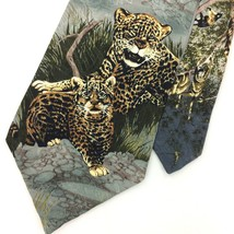 ENDANGERED SPECIES ORYX MONKEY CHEETAH Animals Silk Necktie IN14-114 Nov... - $15.83