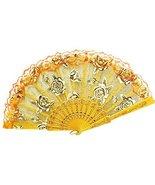 George Jimmy Lace Folding Fans Lady's Girl's Retro Handheld Fan # Rose(O... - $12.44