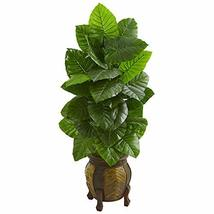 Nearly Natural 4.5-Ft. Taro Artificial Decorative Planter Silk Plants Green - $237.18