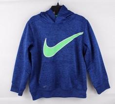 Nike Jugend Kinder Therma Passform Basketball Pullover Kapuzenpulli Blau... - $14.62