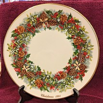 "Virginia Colonial Christmas Lenox Wreath Plate 1st 1981 10 3/4"" Excellen... - $68.81"
