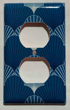 Japanese Pattern Art Scallop Light Switch Outlet wall Cover Plate Home Decor image 2