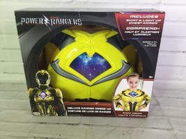 Power Rangers Deluxe Ranger Yellow Dress Up Shirt Costume Light Chest Armor 4-7x - $14.84
