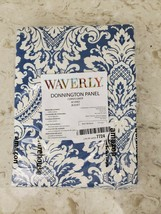 "Waverly Donnington Cornflower Back Tab Panel Curtain 52""W x 63""L BLUE NEW - $17.35"