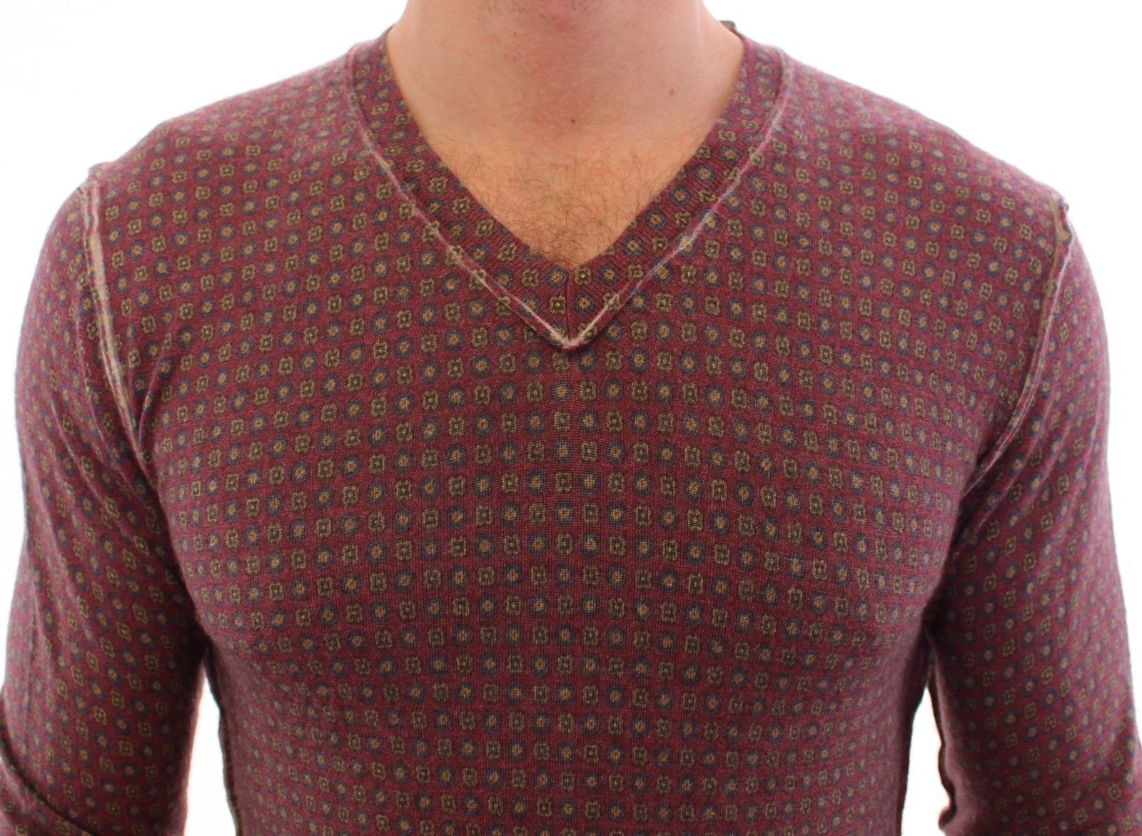 Dolce & Gabbana Multicolor Cashmere Sweater Pullover Top