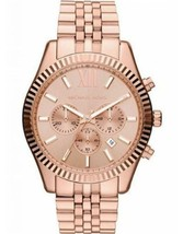 Michael Kors MK8319 Oversized Rose Gold Lexington Chronograph Women's Watch - $98.01