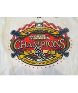 Chicago White Sox White T-Shirt L 2005 World Series Champ Majestic 100% ... - $9.75