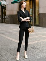 Women's High Quality Solid White Blazer Jacket Business Suit image 5