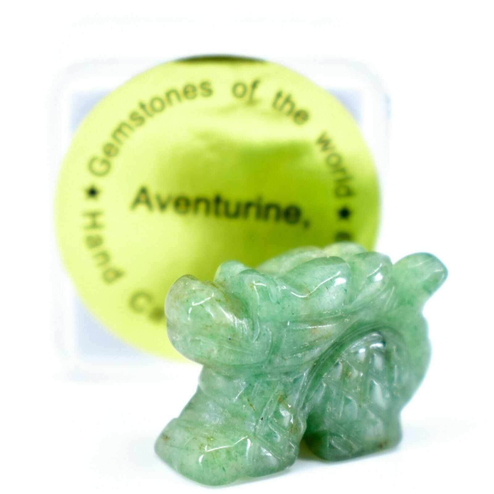 Aventurine Quartz Gemstone Tiny Miniature Dragon Figurine Hand Carved in China