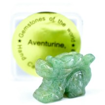 Aventurine Quartz Gemstone Tiny Miniature Dragon Figurine Hand Carved in China image 1