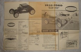 Aurora Model Car Kit Assembly 1932 Ford Ram Rod Instructions Only  - $11.83
