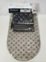 Peva Shower Curtain, Tub Mat & Curtain Hook Set. 14 Pieces. Clear Glitte... - $24.24