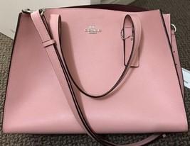 Coach NEW Pink Peony Silver Charlie Carryall Satchel Leather Handbag $35... - £229.58 GBP