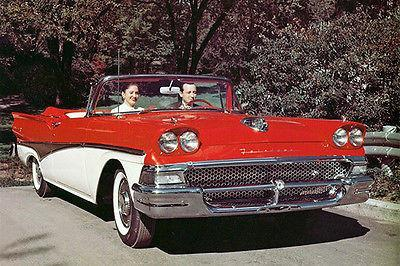 Primary image for 1958 Ford Fairlane 500 Sunliner Convertible - Promotional Photo Poster