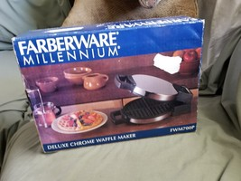 New GIFT Farberware MILLENNIUM DELUXE CHROME WAFFLE MAKER FWM700P SINGLE... - $74.19 CAD