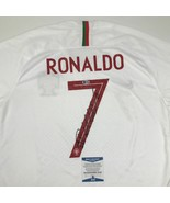 Autographed/Signed CRISTIANO RONALDO Portugal White World Cup Jersey Bec... - $449.99