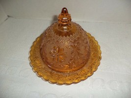 Tiara Indiana Amber Butter Dome  - $19.99