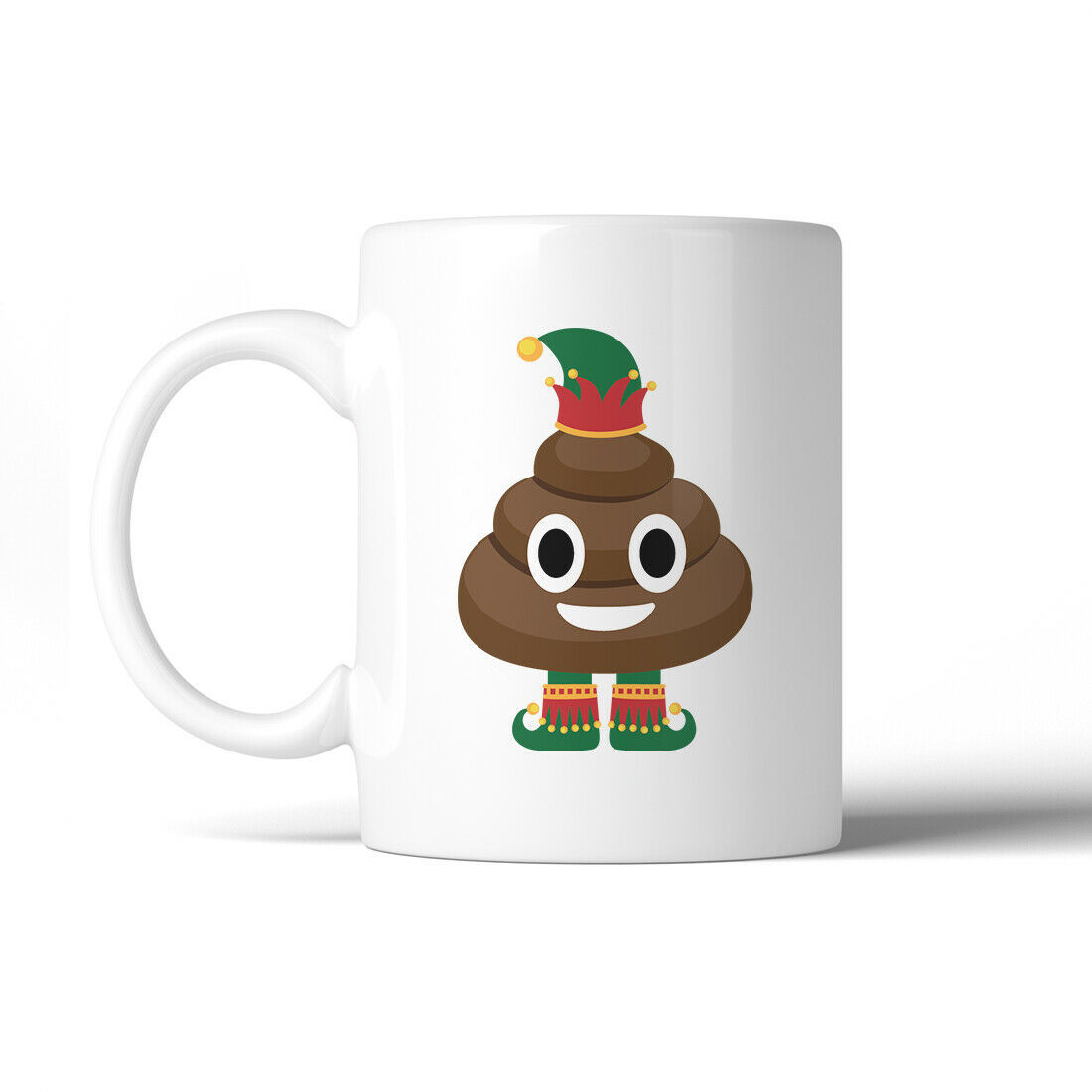 Primary image for 365 Printing Poop Elf Cute Holiday WHITE Mug X-mas Present