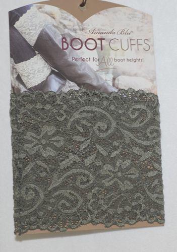 Amanda Blu 31503 Boot Cuffs Olive Green Lace 5 Inches Tall