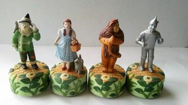 1977 WIZARD OF OZ 4 SCHMID MUSIC BOXES DOROTHY TIN MAN COWARDLY LION SCA... - $106.43