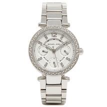 Michael Kors MK5615 Mini Parker Glitz Silver Bracelet Chronograph Watch RRP £259 - $115.35