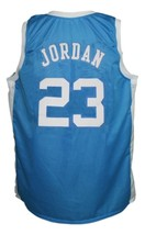 Michael Jordan #23 College Basketball Jersey Sewn Blue Any Size image 5