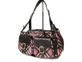 Authentic BURBERRY LONDON BLUE LABEL Corduroy, Leather pink Shoulder Bag - $195.00