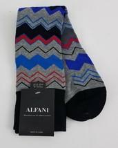 Alfani Men's Chevron Stripe Socks Light Grey Heather One Size - $5.93