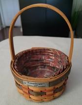 Longaberger 1997 INAUGURAL Basket with Liner Protector USA Americana Flag  - $14.54