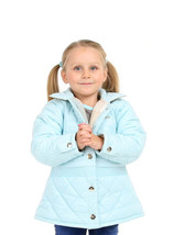Cherry Crumble Premiuim Short Trench Jacket For Girl - $64.43
