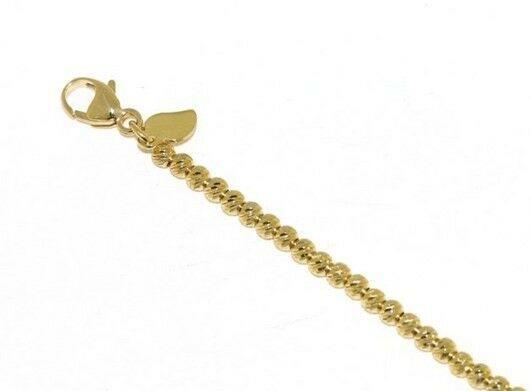 18K YELLOW GOLD BRACELET, 21 CM, FINELY WORKED SPHERES, 2.5 MM DIAMOND CUT BALLS