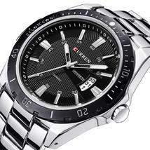 Watches men luxury brand Watch CURREN quartz sport military men full steel wrist - $20.73